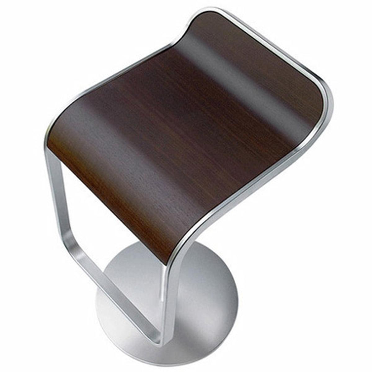La Palma - Lem Barhocker (66-79cm) Gestell verchromt, Eiche nussbaumfarbig | Küche und Esszimmer > Bar-Möbel > Barhocker | Eiche nussbaumfarben | Metall -  matt verchromt -  eichenholz | La Palma