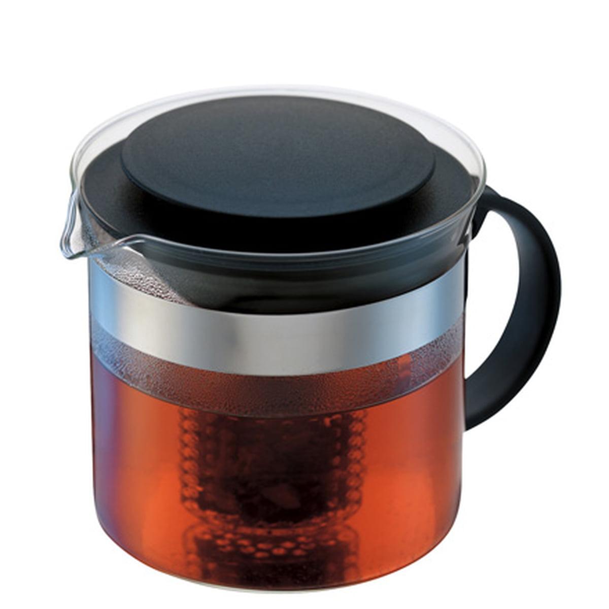 Bodum - Bistro Nouveau, Teebereiter, 1.0 l | Küche und Esszimmer > Kaffee und Tee | Transparent -  durchsichtig | Borosilicatglas -  kunststoff -  edelstahl | Bodum