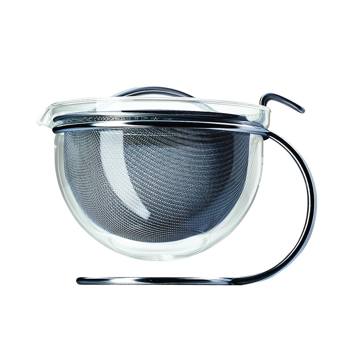mono filio - Portionsteekanne   Küche und Esszimmer > Kaffee und Tee > Teekocher   Transparent -  durchsichtig   Chromnickel-edelstahl 18/10 -  borosilikatglas   mono