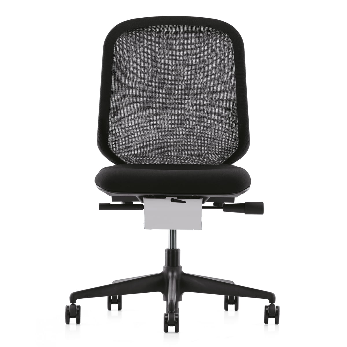 Vitra - MedaPal, schwarz, Hartbodenrollen | Büro > Bürostühle und Sessel  > Bürostühle-Zubehör | Schwarz | Gestell: polyamid glasfaserverstärkt -  sitzbezug: nova (schwarz) -  rückenbezug: netline (schwarz) | Vitra