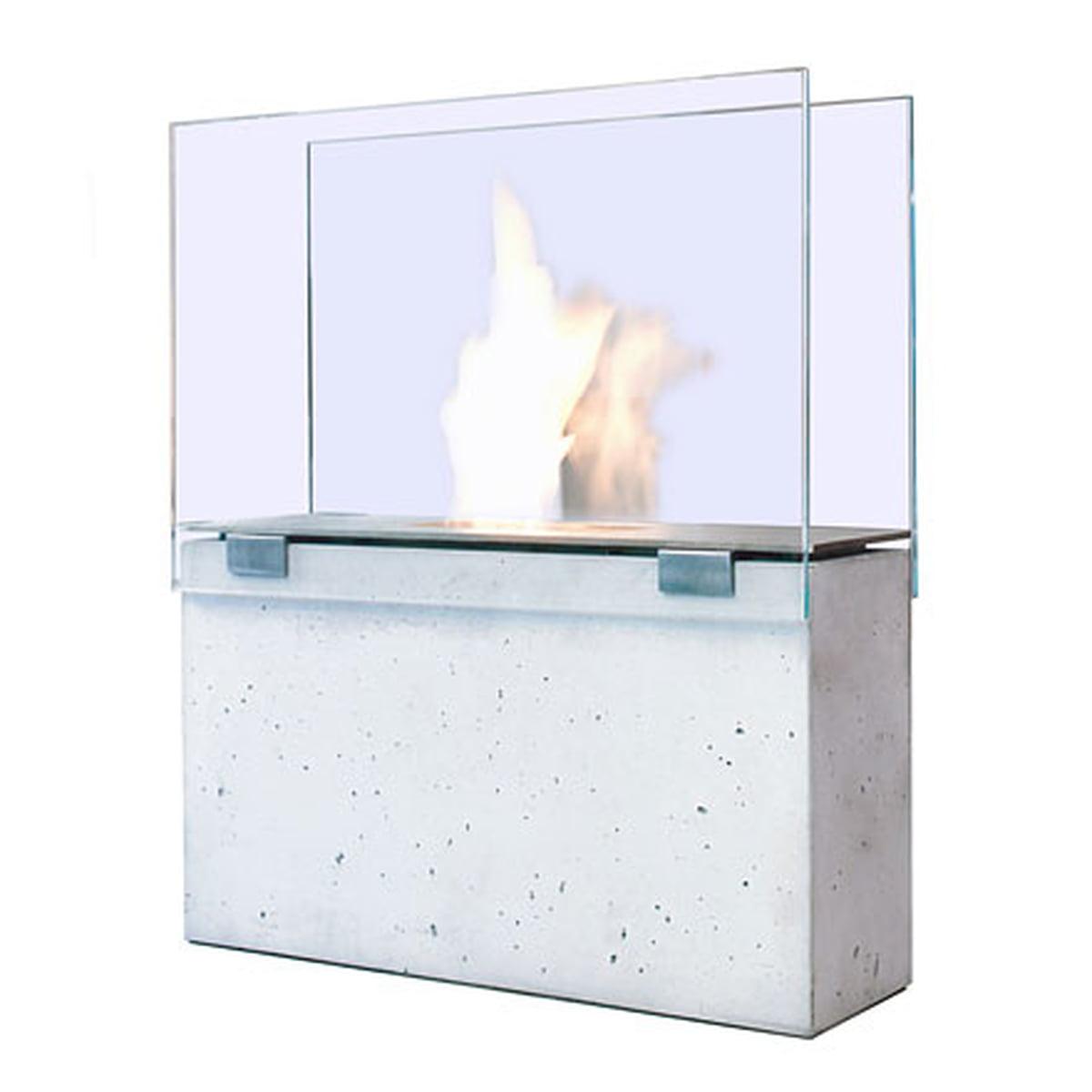 Conmoto - Feuerstelle Muro, klein   Garten > Grill und Zubehör   Transparent -  durchsichtig   Korpus glasfaserbeton -  sicherheitsglas -  tank edelstahl   Conmoto