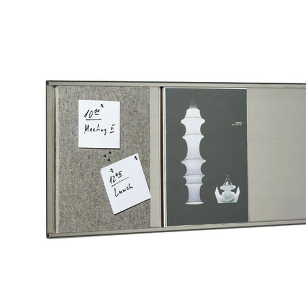 Klein & More - Pinnwand aus Filz und 6 Pins (DIN A4)   Büro   Grau   Filz   Klein & More