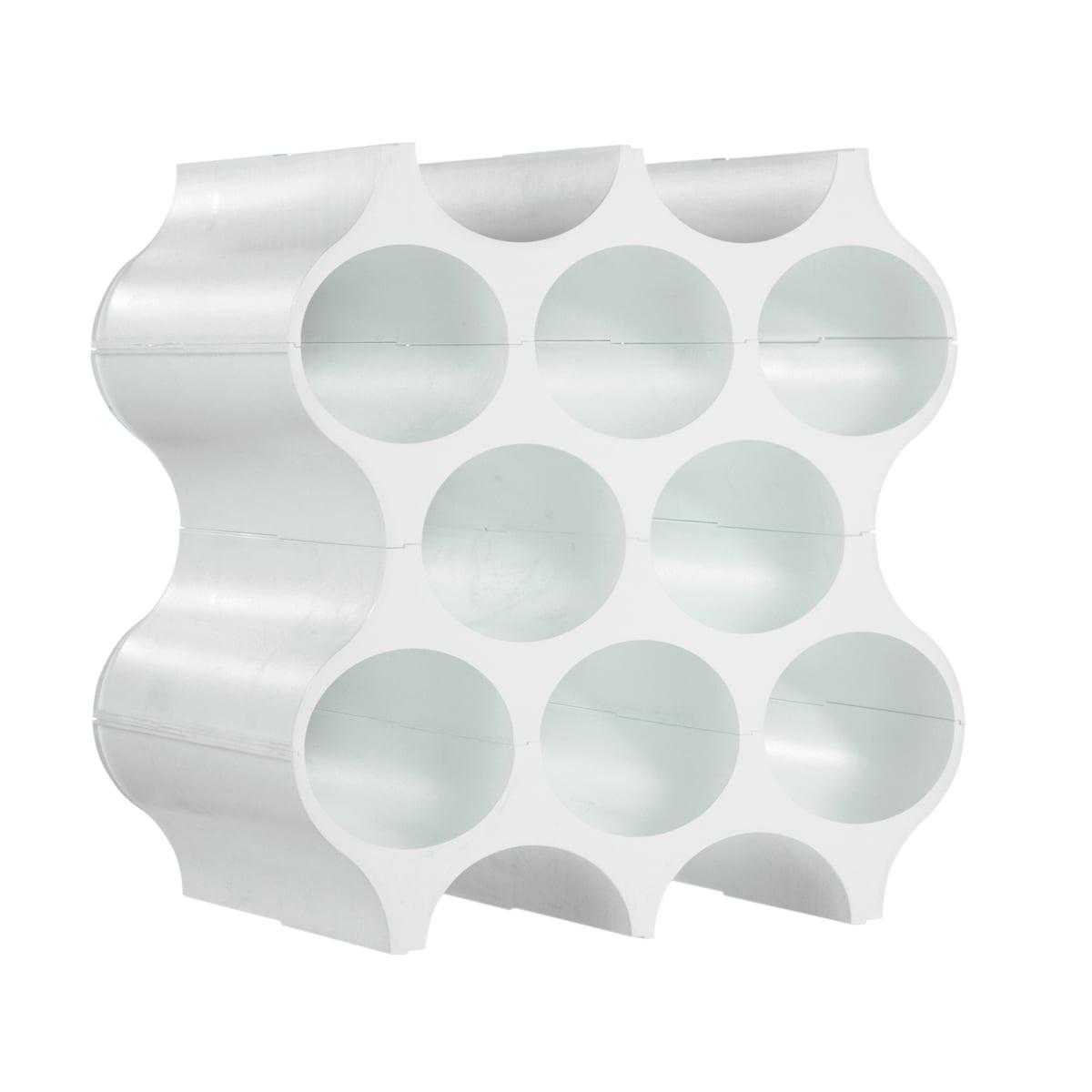 Koziol - Flaschenregal Set-Up, solid weiß   Küche und Esszimmer > Küchenregale   Weiß   Polypropylen   Koziol