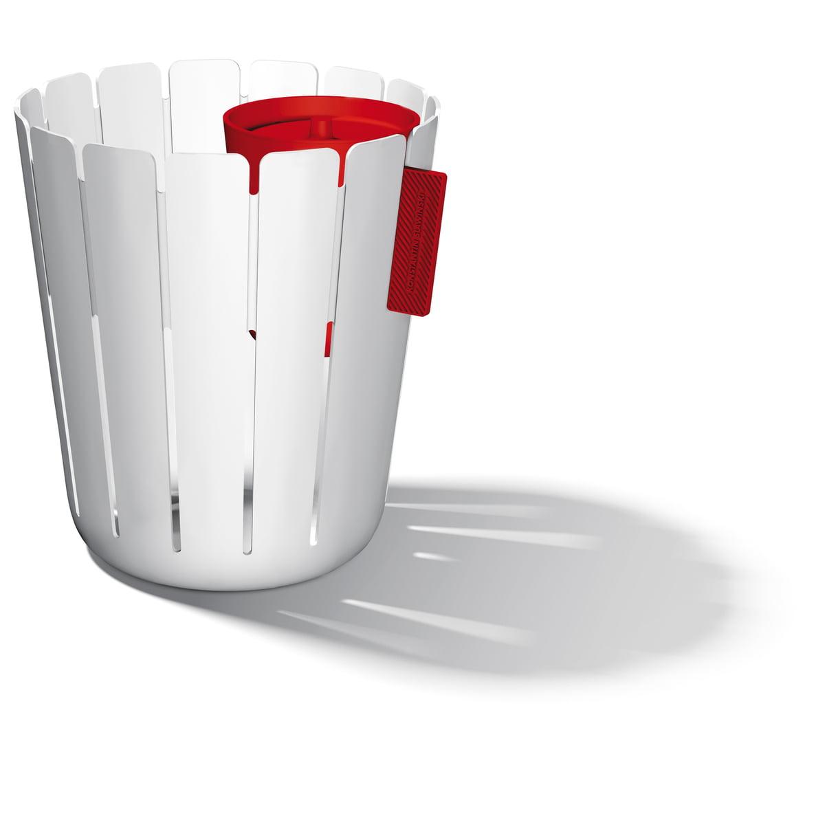 Konstantin Slawinski - SL17 Basketbin Mülleimer-System, weiß / rot (2 Tlg.)   Küche und Esszimmer > Küchen-Zubehör   Weiß   Polypropylen   Konstantin Slawinski