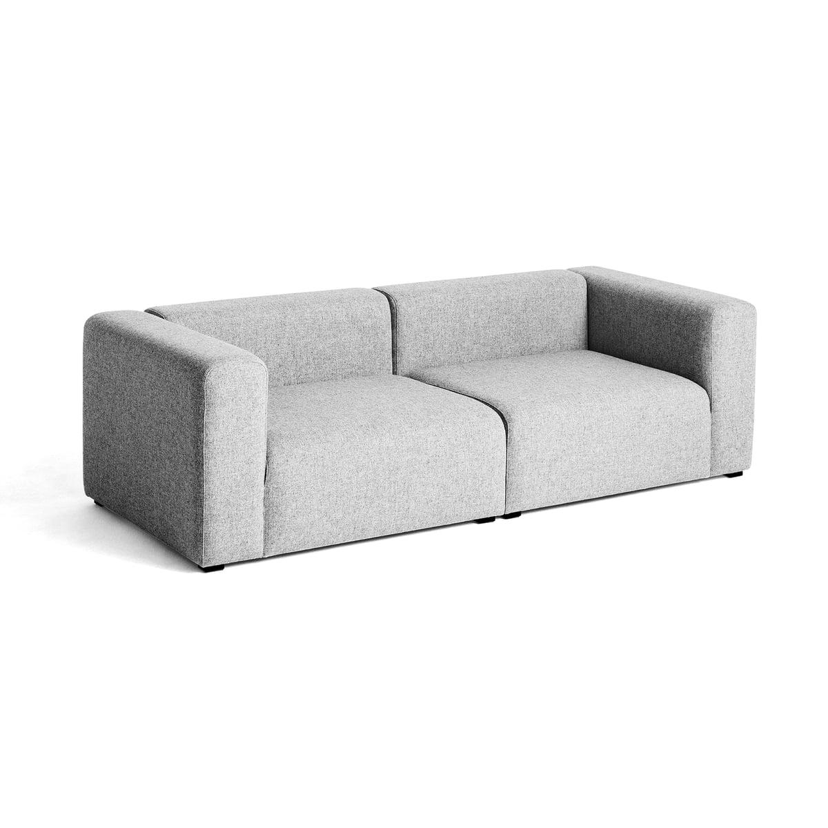 Hay mags sofa 2 5 sitzer kombination 1 hellgrau hallingdal 130