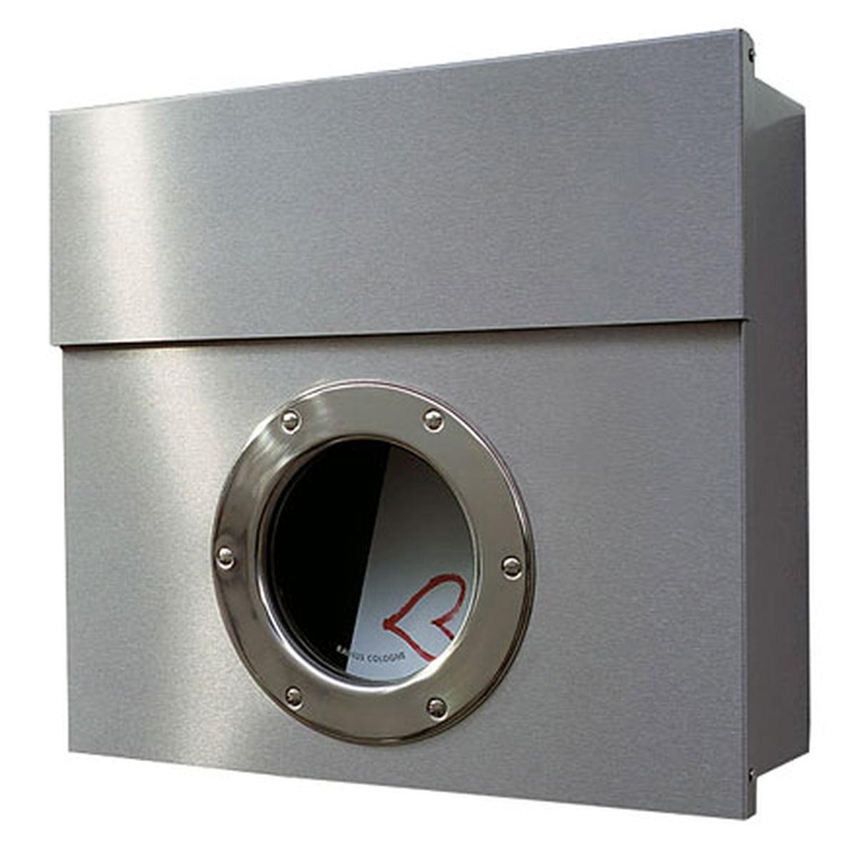 Radius Design - Briefkasten Letterman, Edelstahl matt poliert | Baumarkt > Briefkästen | Edelstahl | Verzinkter und gepulverter stahl -  sichtfenster aus glas | Radius Design