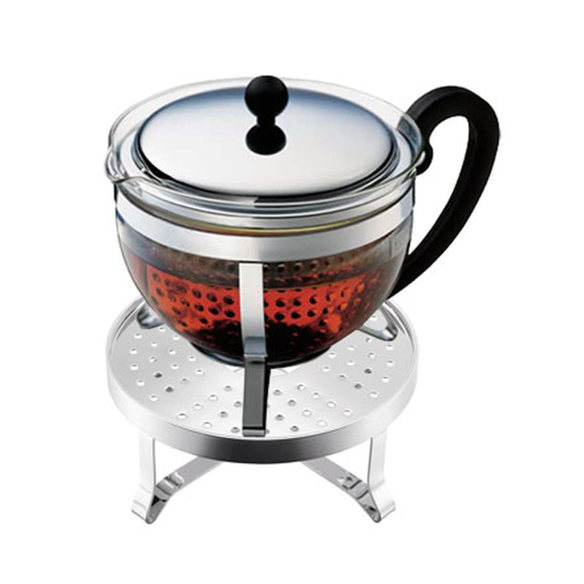 Bodum - Chambord Tee Set (Teekanne, Rechaud)   Küche und Esszimmer > Kaffee und Tee   Transparent -  durchsichtig   Borosilikatglas -  edelstahl   Bodum