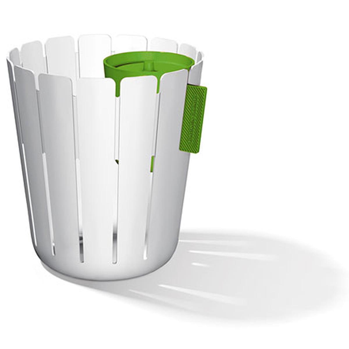 Konstantin Slawinski - SL17 Basketbin Mülleimer-System, weiß / grün (2 Tlg.)   Küche und Esszimmer > Küchen-Zubehör   Weiß   Polypropylen   Konstantin Slawinski