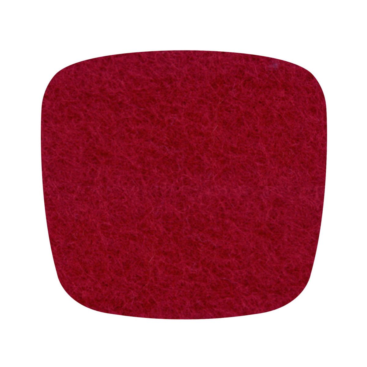Hey Sign - Filz-Auflage Eames Plastic Armchair, rot 5 mm, ohne Antirutsch-Beschichtung   Heimtextilien > Decken und Kissen > Kissen   Rot   Filz   Hey Sign