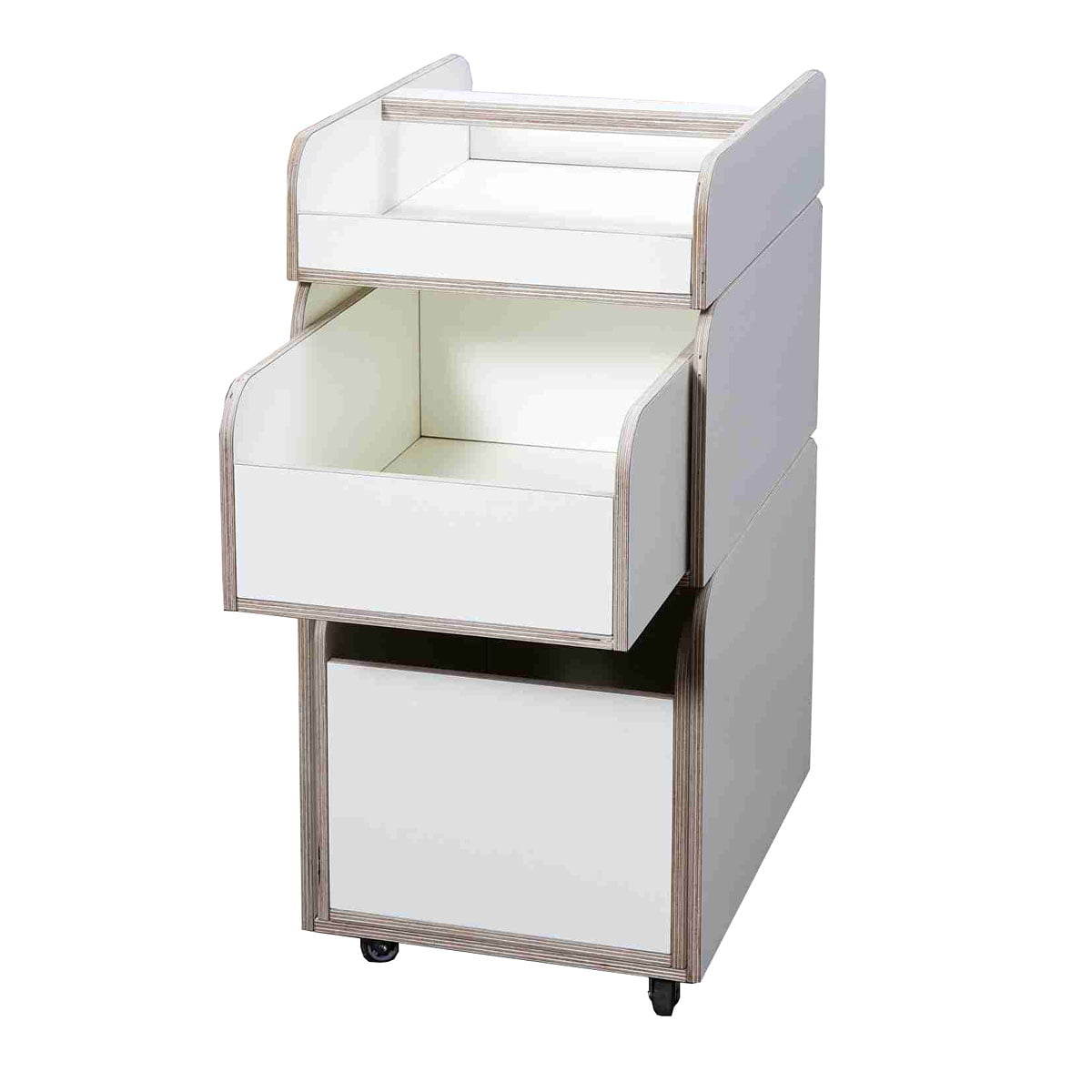 Pure Position (Growing Table) Pure Position - Growing Table Table Spaces Container, HPL weiß | Büro > Büroschränke > Container | Weiß | Multiplex birke weiß beschichtet | Pure Position (Growing Table)