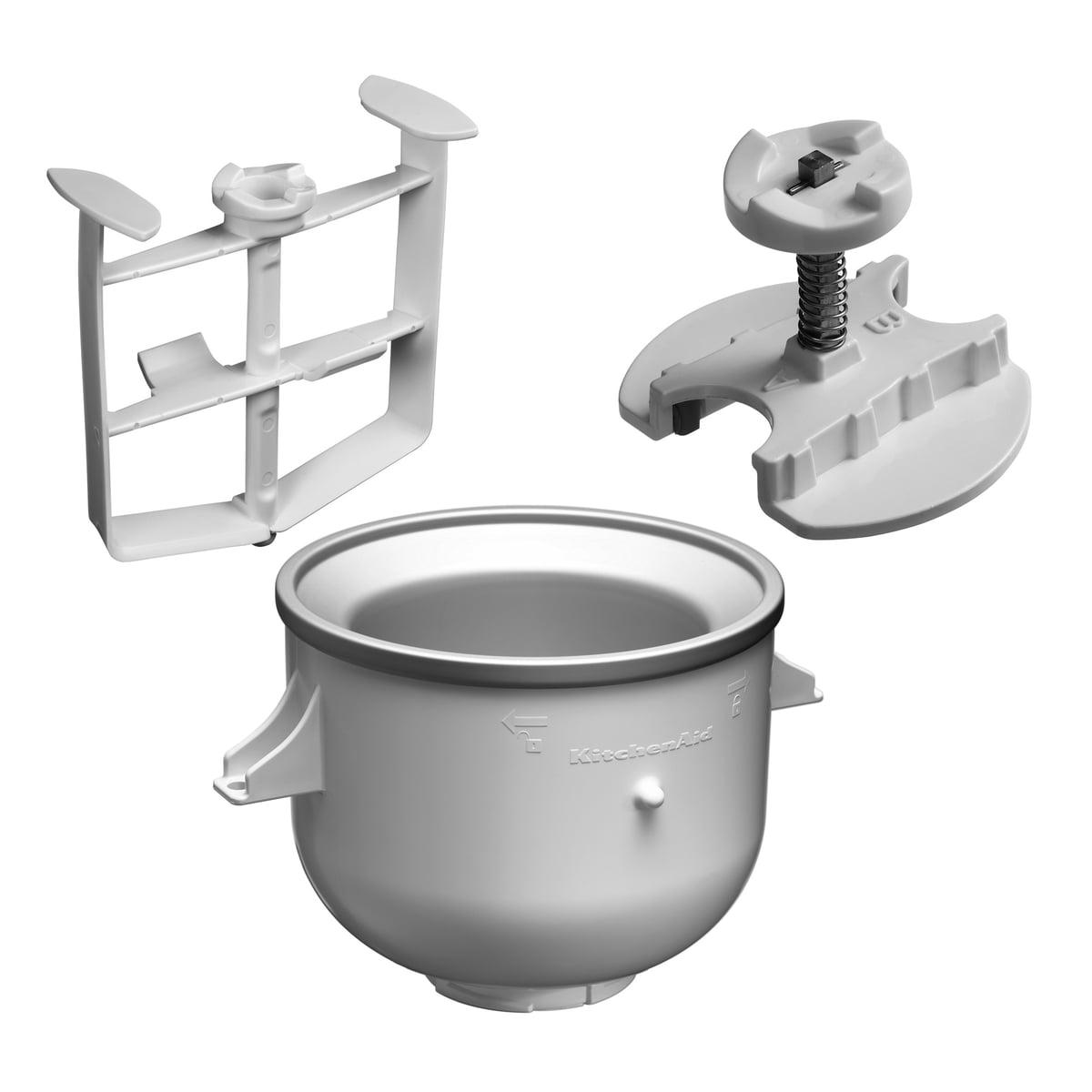 Kitchen Aid KitchenAid - Speiseeisbereiter für Artisan-Küchenmaschine   Küche und Esszimmer > Küchengeräte > Rührgeräte und Mixer   Weiß   Doppelwandig   Kitchen Aid