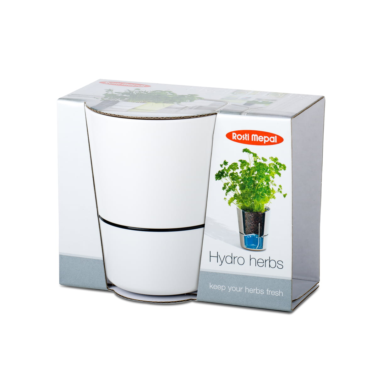 Rosti Mepal - Hydro Kräutertopf, groß, weiß   Garten > Pflanzen > Blumentöpfe   Weiß   Melamin   Rosti Mepal