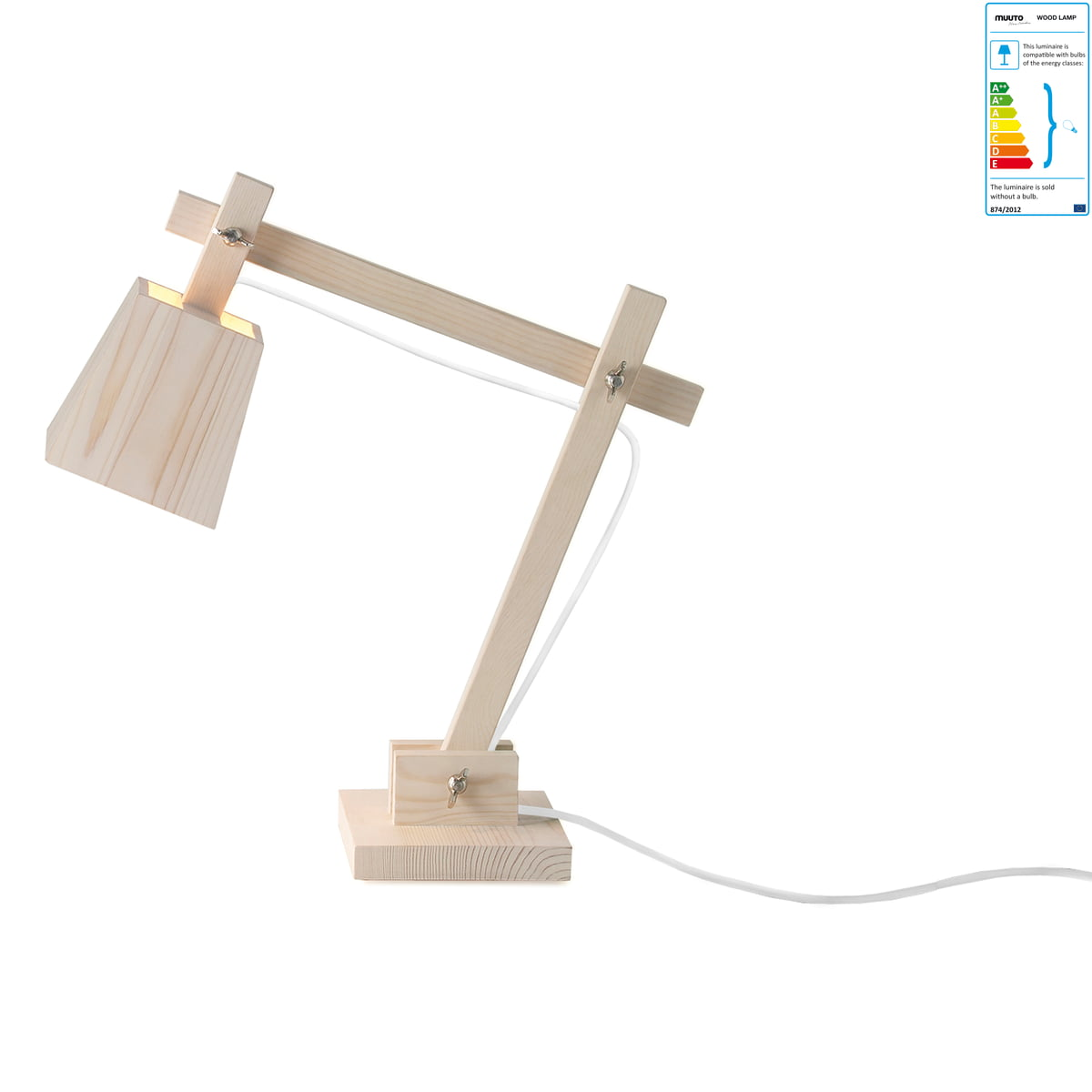 Wood lamp white elabel