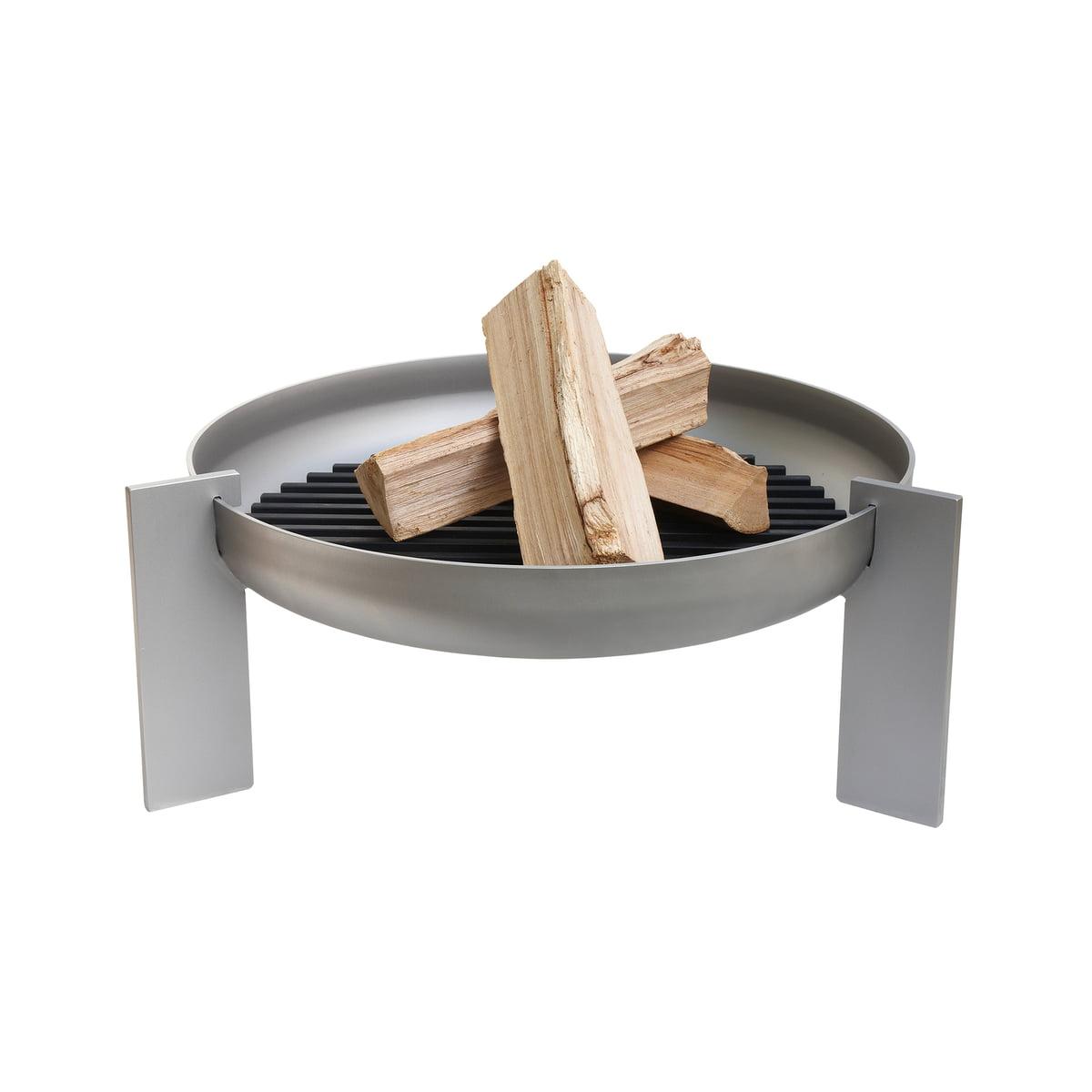 artepuro - Feuerstelle hotlegs, massiver Stahl Ø 67 cm | Garten > Grill und Zubehör | Silber | Massiver stahl -  geölt | artepuro