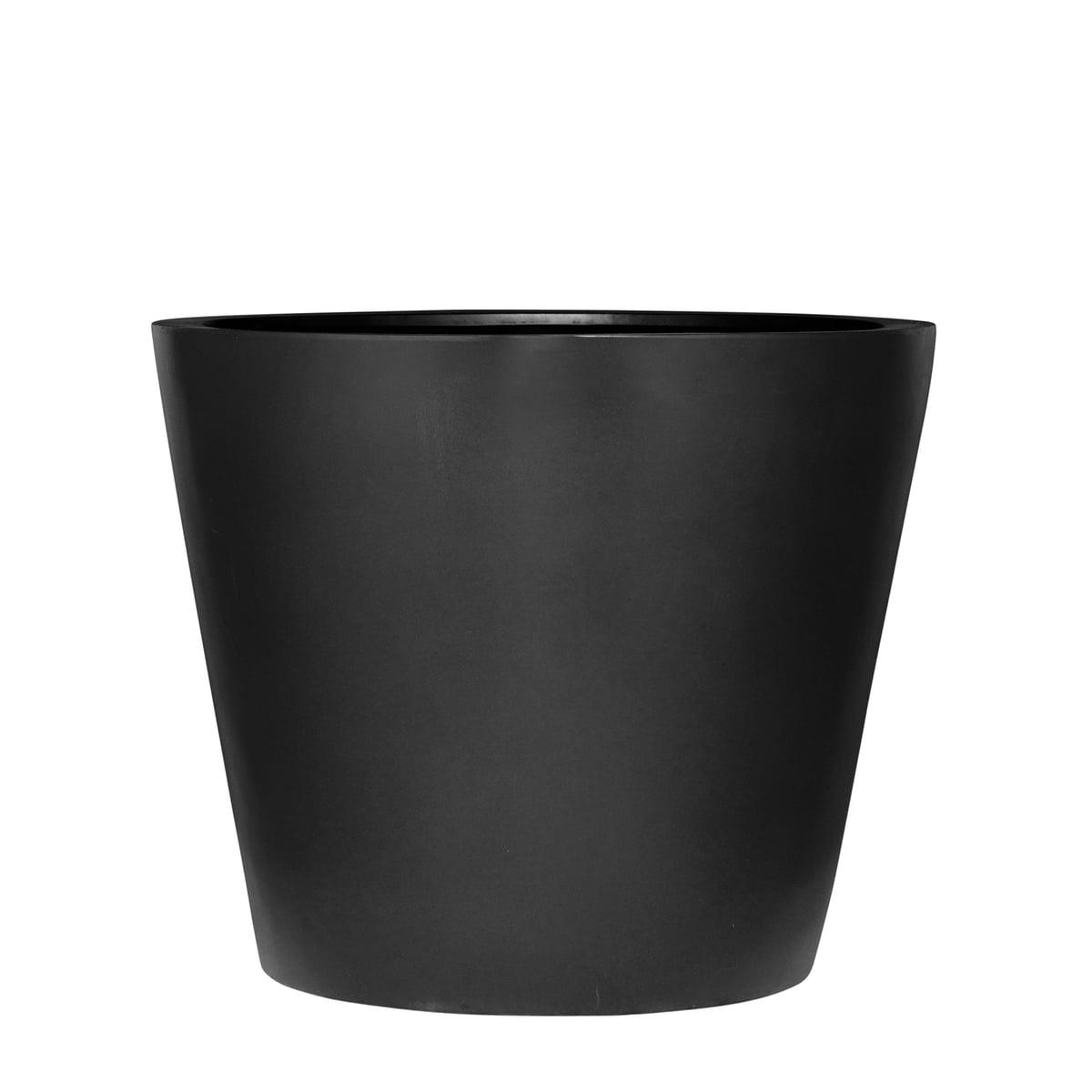 Amei - Der Runde Pflanzkübel, M, schwarz | Dekoration > Dekopflanzen | Schwarz | Stonefiber (mixtur als polyesterharz und gemahlenem stein mit strängen aus fiberglas) | Amei