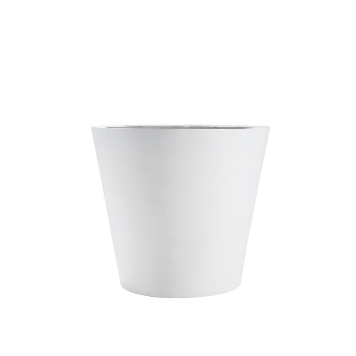 Amei - Der Runde Pflanzkübel, XS, weiß | Dekoration > Dekopflanzen > Pflanzenkübel | Weiß | Stonefiber (mixtur als polyesterharz und gemahlenem stein mit strängen aus fiberglas) | Amei