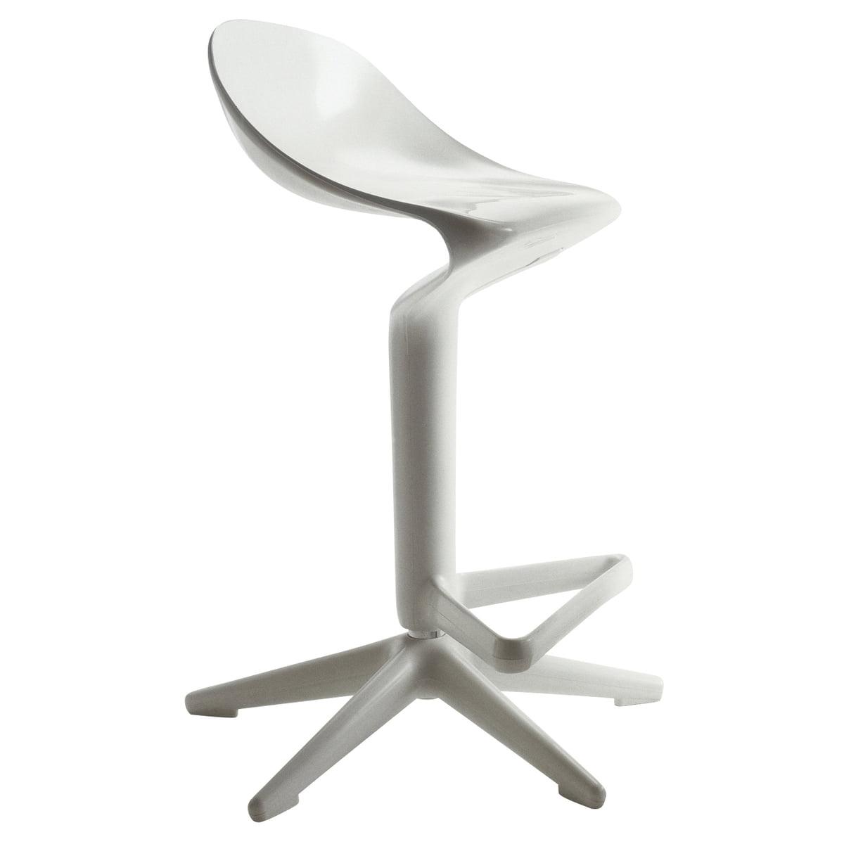 Kartell - Spoon Barhocker, weiß | Küche und Esszimmer > Bar-Möbel > Barhocker | Weiß | Kartell