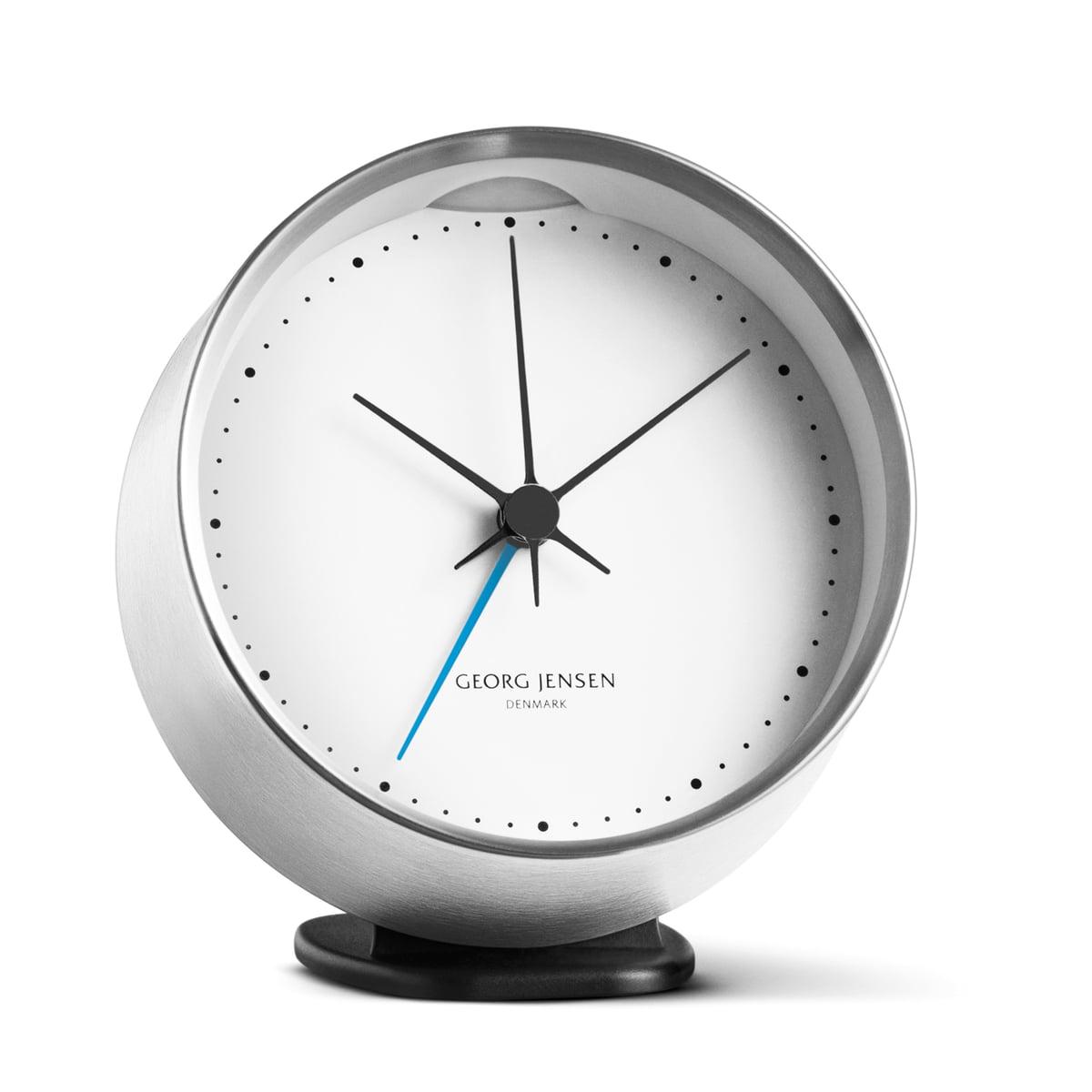 Georg Jensen - Henning Koppel Wecker, Edelstahl | Dekoration > Uhren > Wecker | Edelstahl | Edelstahl -  abs-kunststoff| edelstahl| abs-kunststoff | Georg Jensen