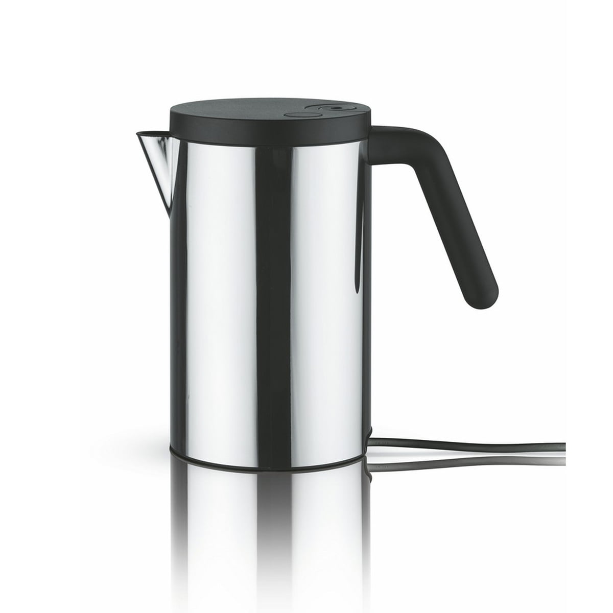 Alessi - Hot.it elektrischer Wasserkocher, 0.8 l, schwarz | Küche und Esszimmer > Küchengeräte > Wasserkocher | Schwarz | Edelstahl 18/10 -  griff und deckel aus thermoplastischem harz | Alessi