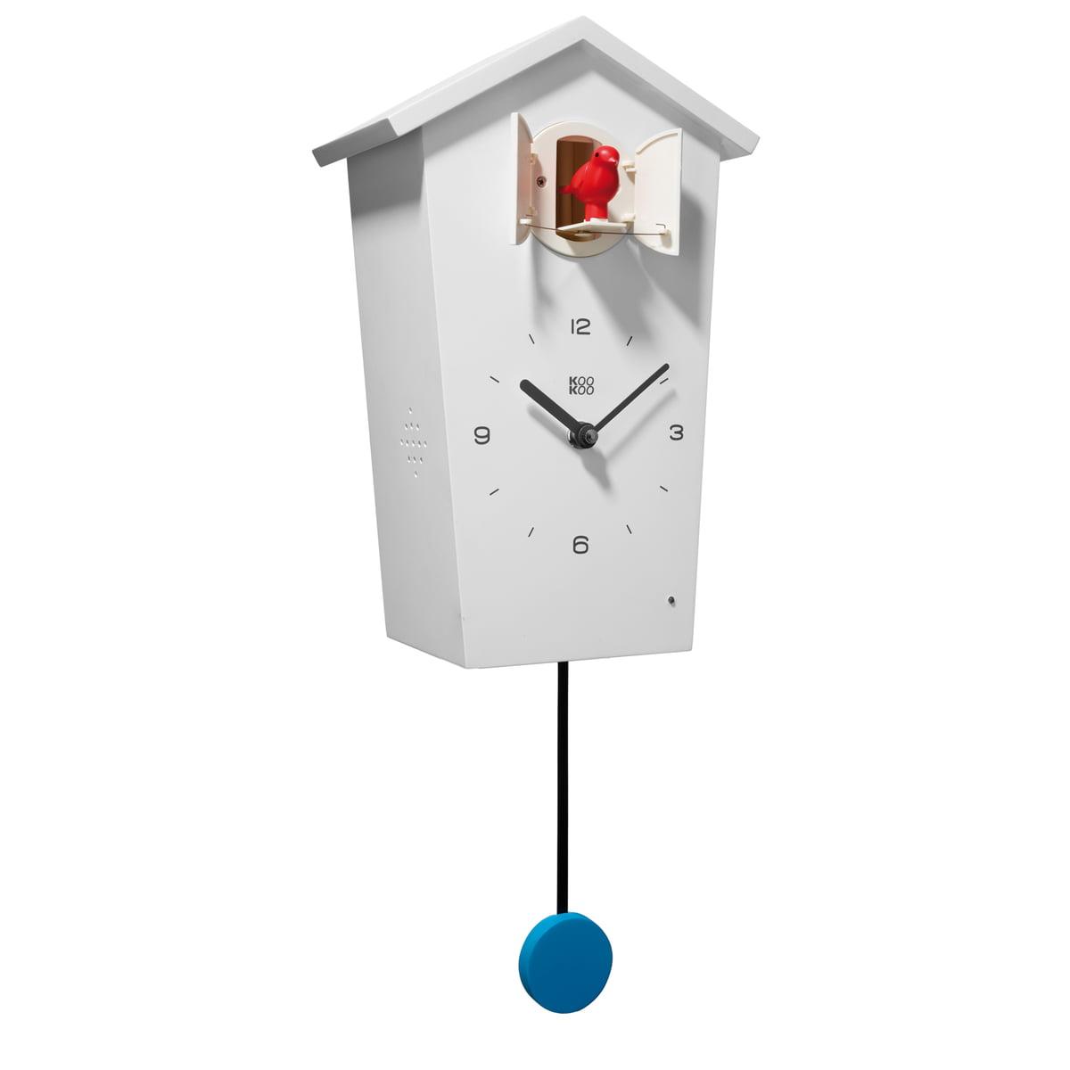 KooKoo - Bird House Kuckucksuhr, weiß | Dekoration > Uhren > Kuckucksuhren | Weiß | Mdf -  matt lackiert | KooKoo
