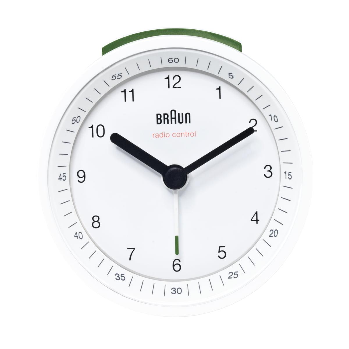 Braun - Funkwecker BNC007, weiß | Dekoration > Uhren > Wecker | Weiß | Kuststoff | Braun