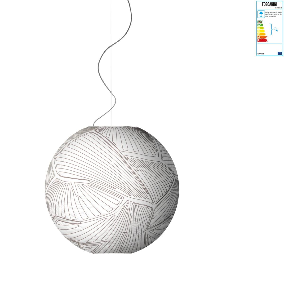 Foscarini - Planet Pendelleuchte - piccola, Halogen, weiß / weiß | Lampen > Deckenleuchten > Pendelleuchten | Weiß | Polycarbonat (pc)| leinen | Foscarini