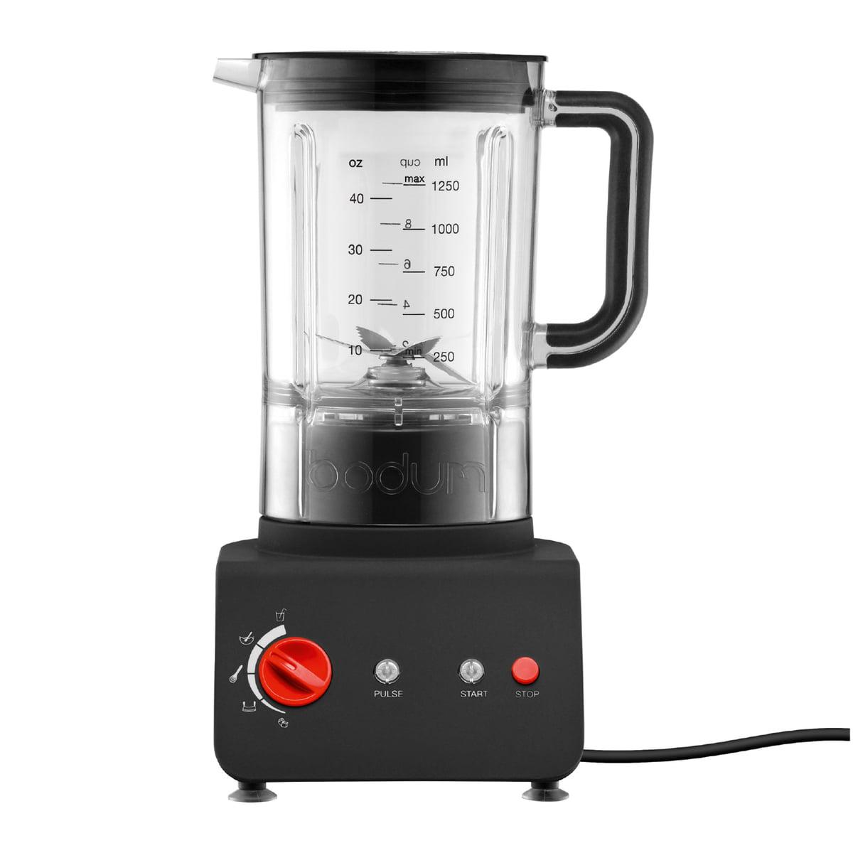 Bodum - Bistro,Standmixer 1,25 l, schwarz | Küche und Esszimmer > Küchengeräte > Rührgeräte und Mixer | Schwarz | Kunststoff -  gummi -  edelstahl | Bodum