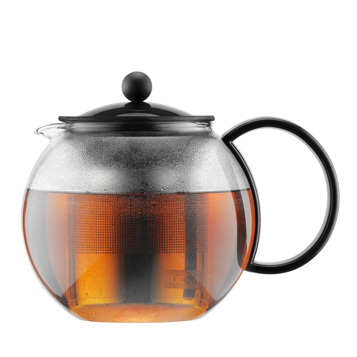 Bodum - Assam Teebereiter, 1,0 Liter, schwarz   Küche und Esszimmer > Kaffee und Tee   Schwarz   Edelstahl -  glas -  kunststoff   Bodum