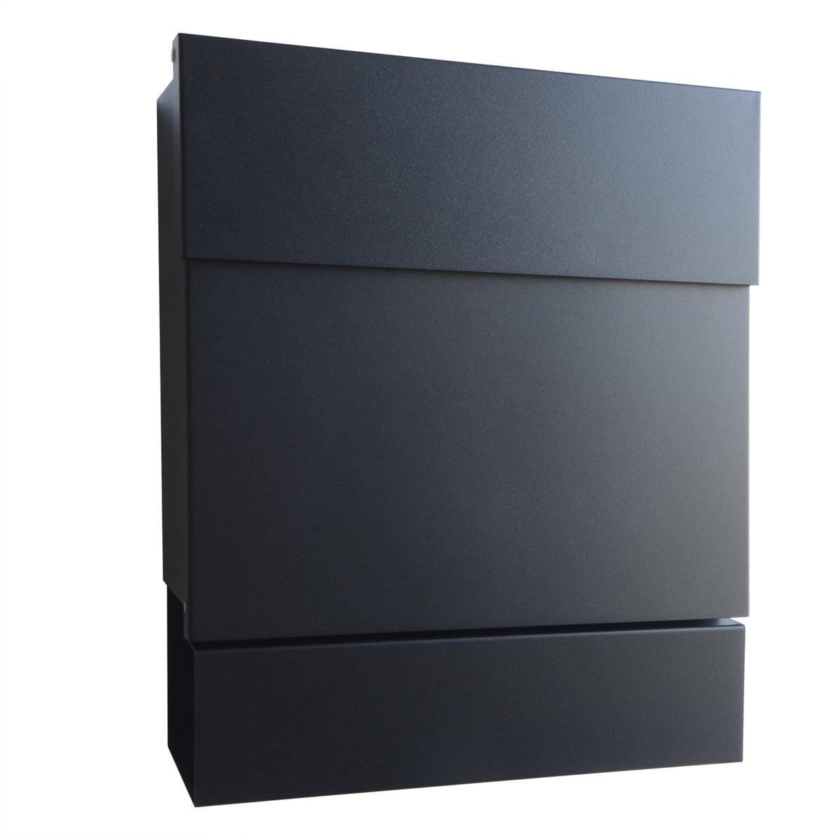 Radius Design - Briefkasten Letterman V, schwarz | Baumarkt > Briefkästen | Schwarz | Stahl pulverbeschichtet | Radius Design