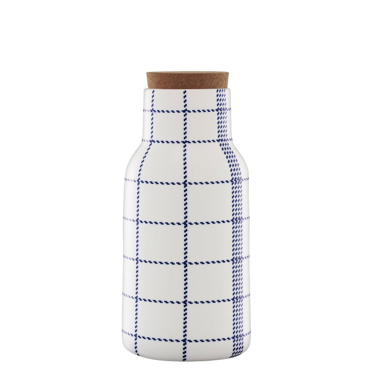 Mormor blue decanter with cork 300 dpi