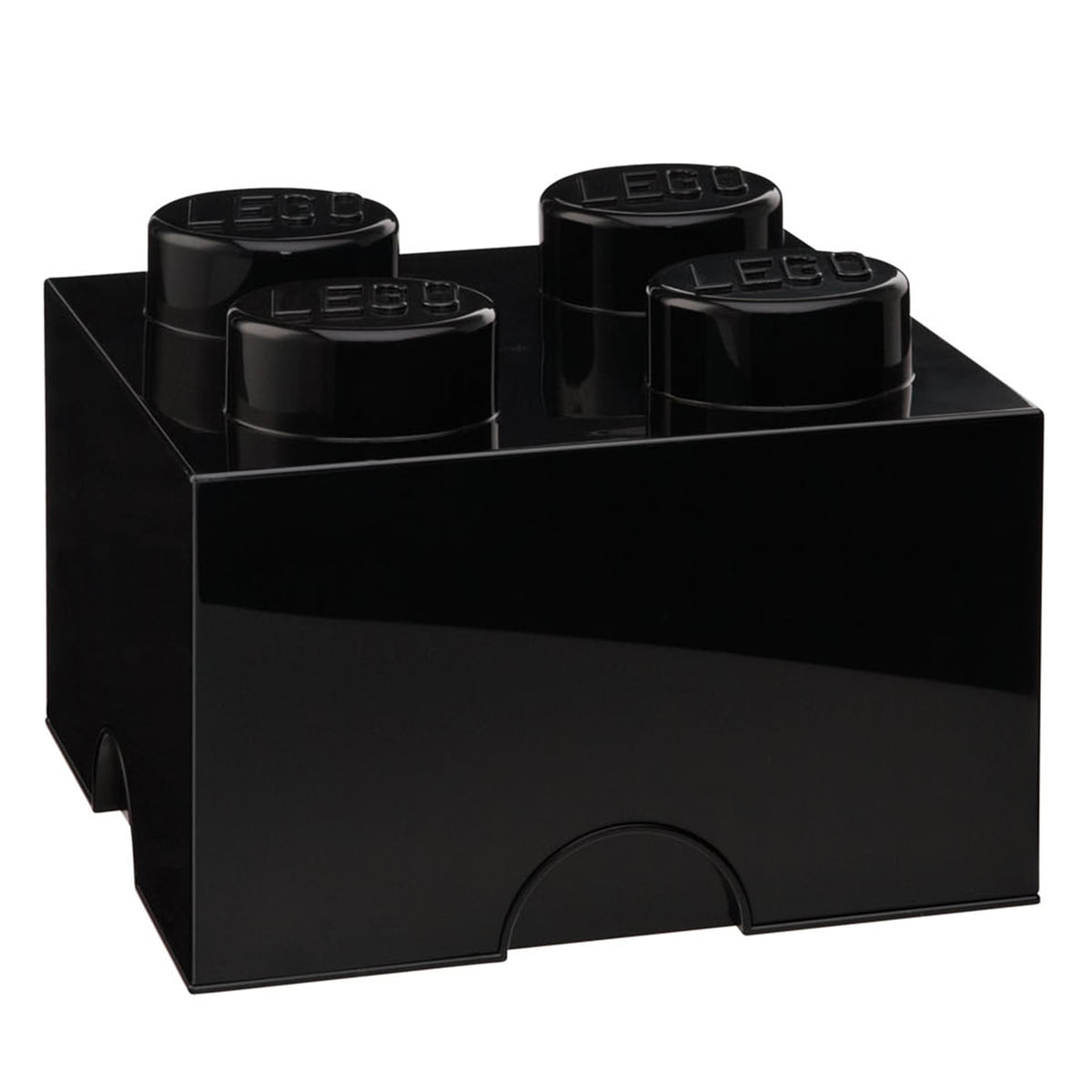 Lego - Storage Brick 4, schwarz | Kinderzimmer > Spielzeuge | Schwarz | Lego