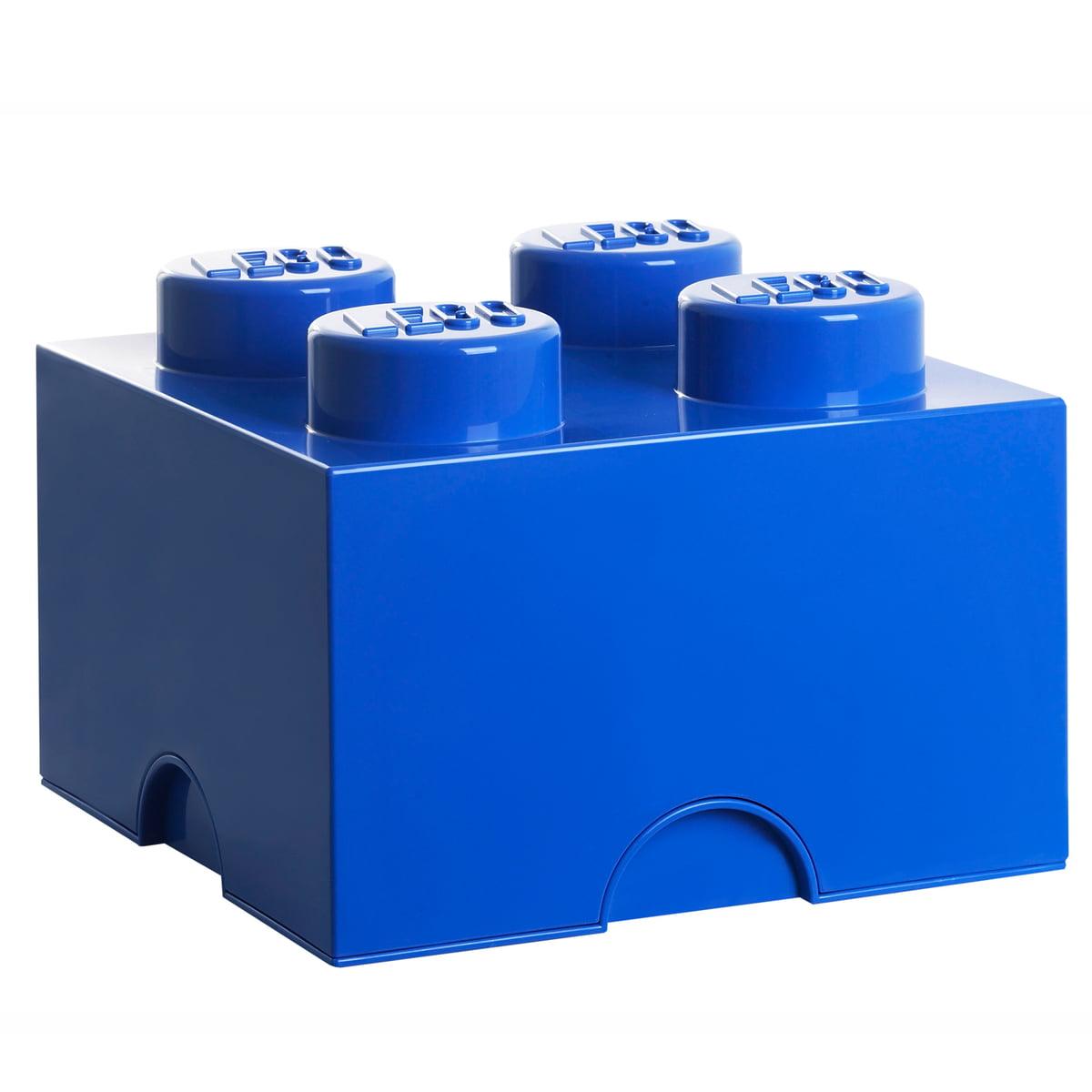 Lego - Storage Brick 4, blau | Kinderzimmer > Spielzeuge | Blau | Kunststoff | Lego