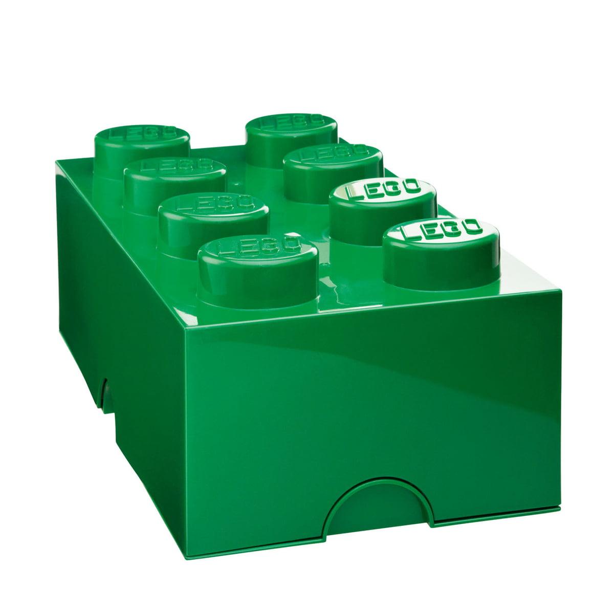 Lego - Storage Brick 8, dunkelgrün   Kinderzimmer   Dunkelgrün   Kunststoff   Lego