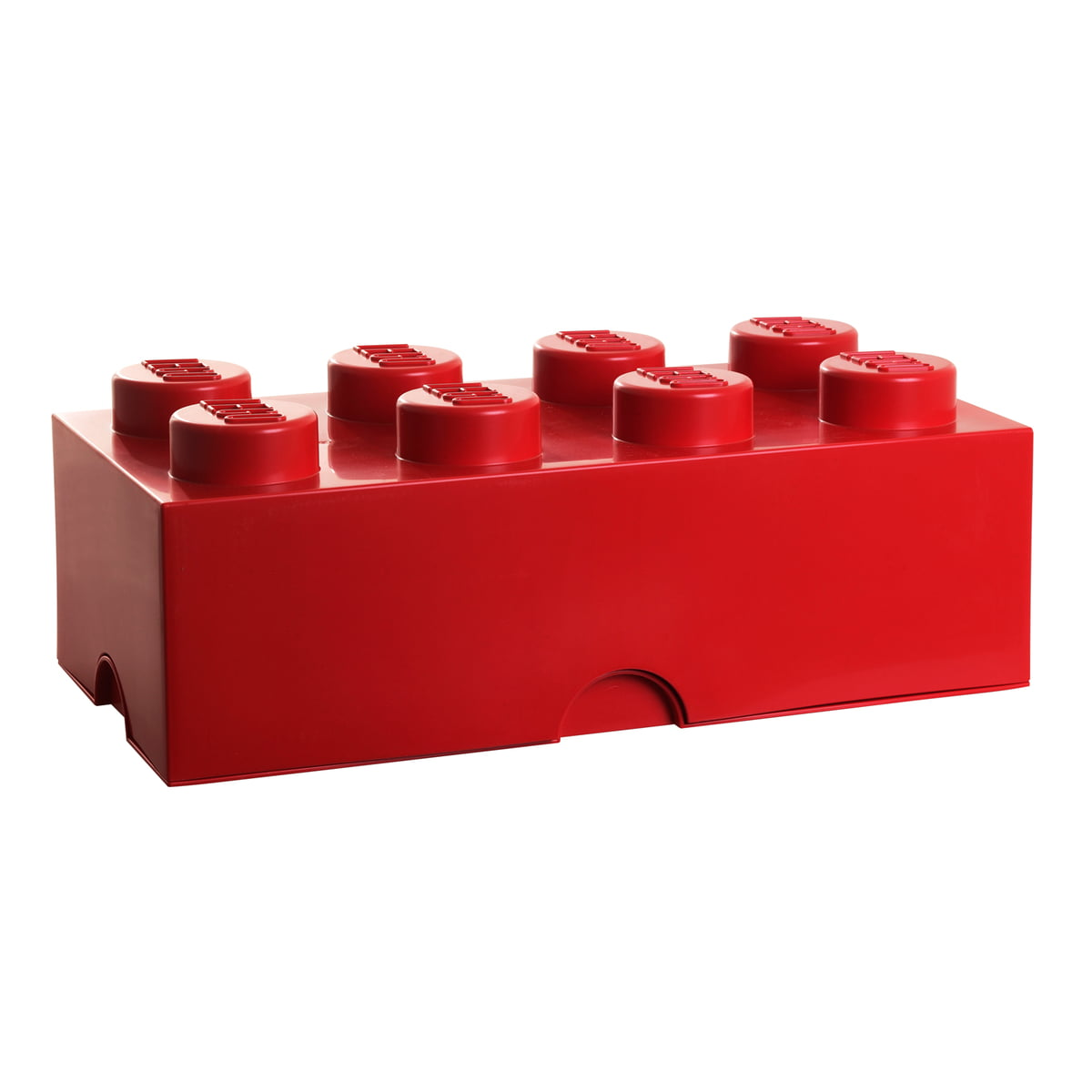 Lego storage box 8 rot