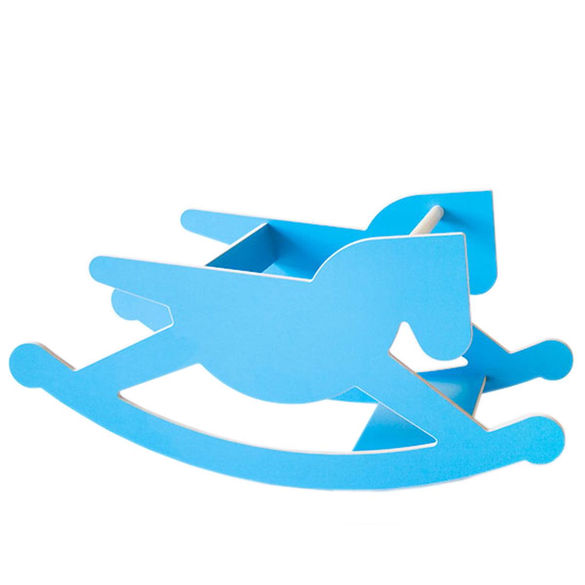 Kaether & Weise - doppel_hoppel Schaukelpferd, blau   Kinderzimmer > Spielzeuge > Schaukeln & Rutschen   Blau   Multiplex hpl beschichtet   Kaether & Weise