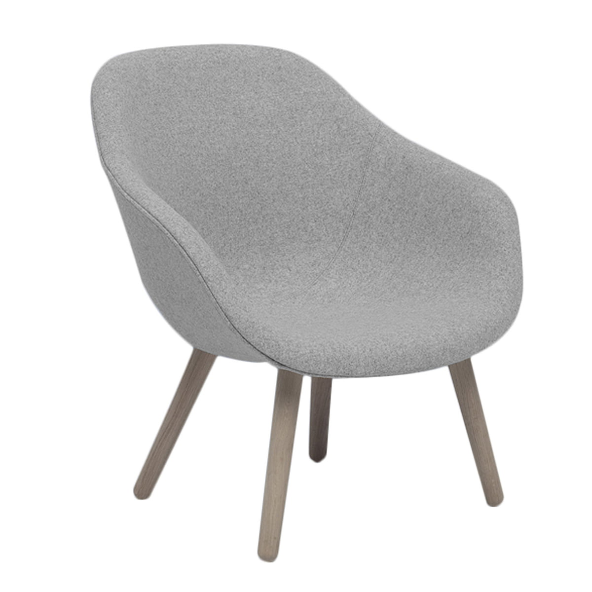 Hay - About A Lounge Chair, Low / AAL 82, Remix hellgrau (123) (EU) | Wohnzimmer > Sessel > Loungesessel | Hellgrau | Hay
