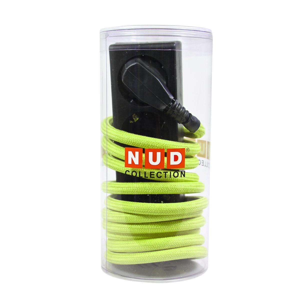 NUD Collection - Extension Cord 3fach-Steckdose, Celery Green (TT-44) | Baumarkt > Elektroinstallation | Grün | Kabel mit textilummantelung | NUD Collection