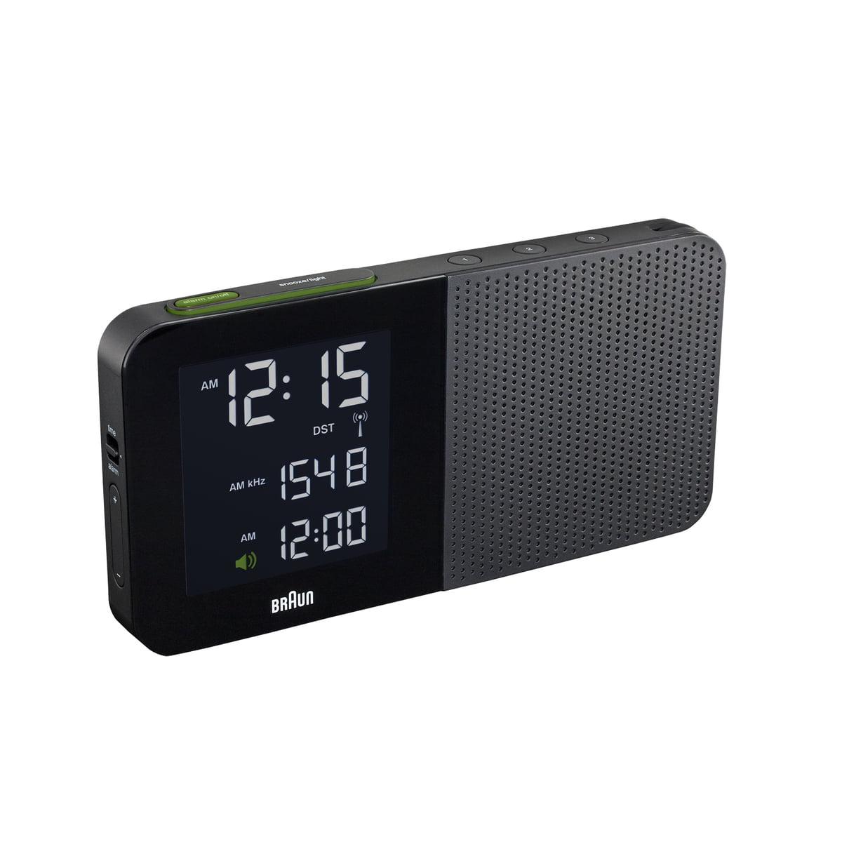 Braun - Digitaler Radiowecker BNC010, schwarz   Dekoration > Uhren > Wecker   Schwarz   Kunststoffgehäuse   Braun