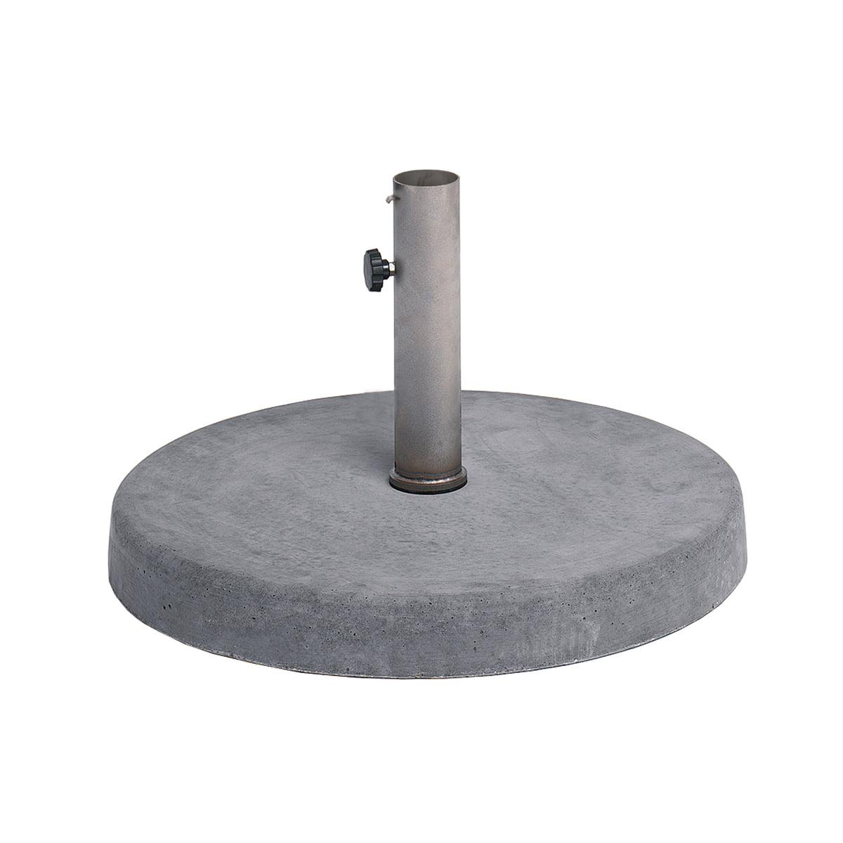 Weishäupl - Schirmständer Bodenplatte Beton (BP140030) | Garten > Sonnenschirme und Markisen > Sonnenschirmständer | Betongrau | Beton -  edelstahl | Weishäupl