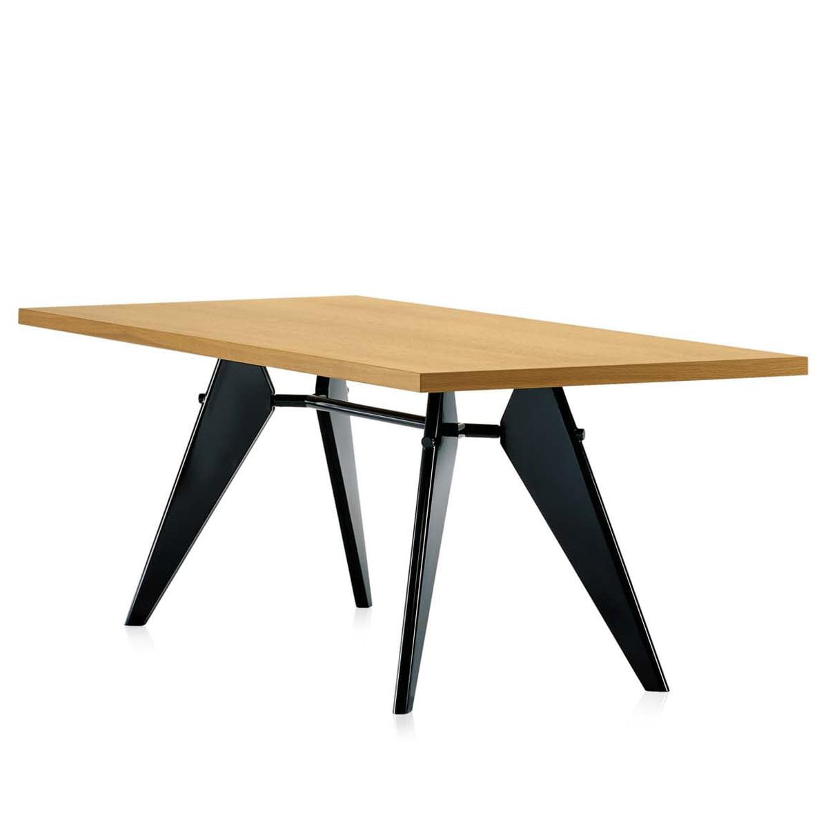 Em table eiche natur schwarz schraeg