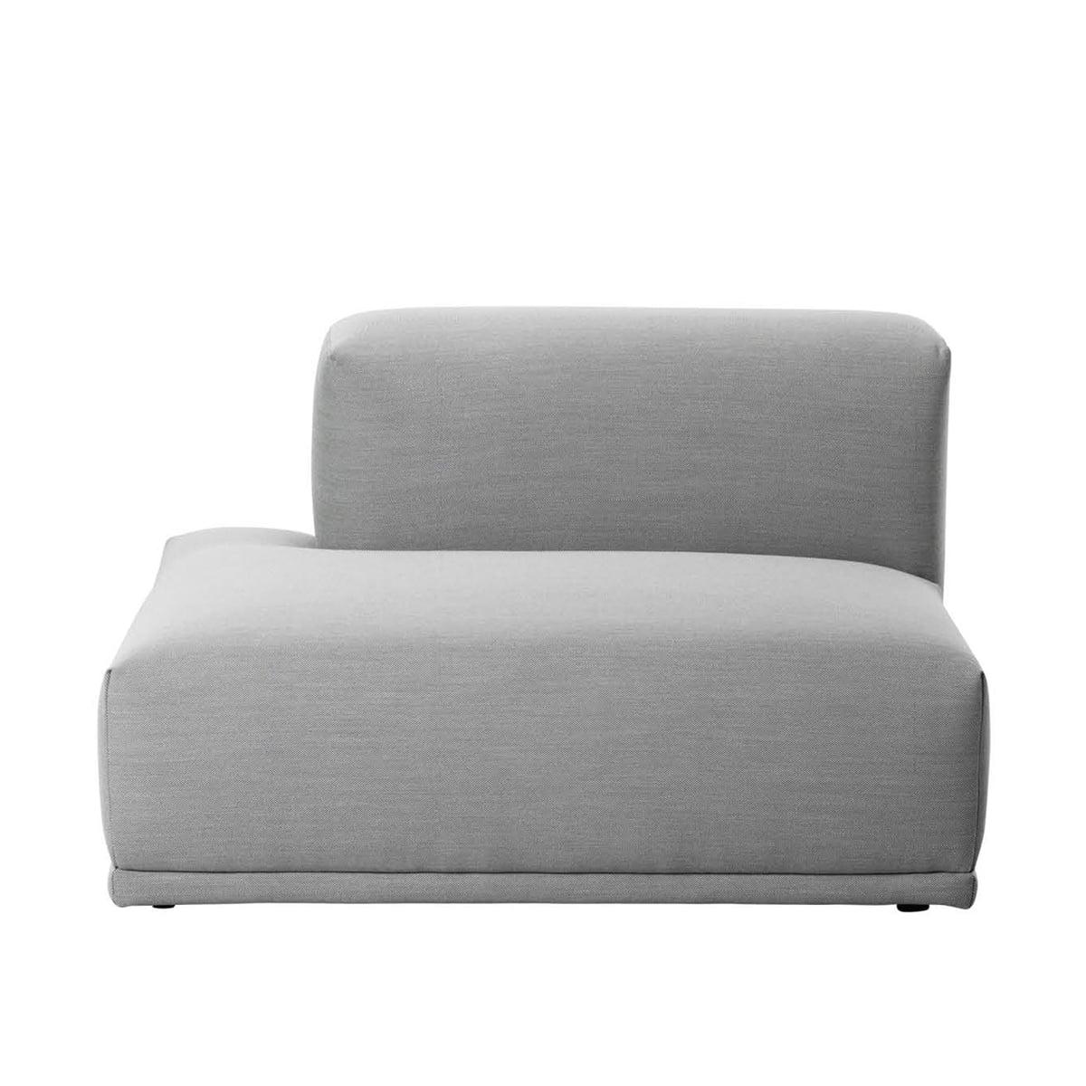 Muuto - Connect Sofa, offenes Endelement F (links), Remix hellgrau (123) | Wohnzimmer > Regale > Regalwürfel | Grau | Verbindungsklammern aus metall | Muuto