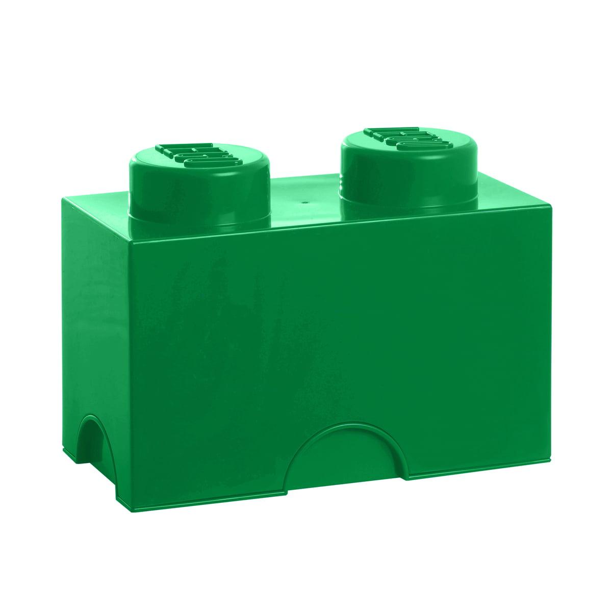 Lego - Storage Brick 2, dunkelgrün | Kinderzimmer | Grün | Polypropylen (pp) | Lego