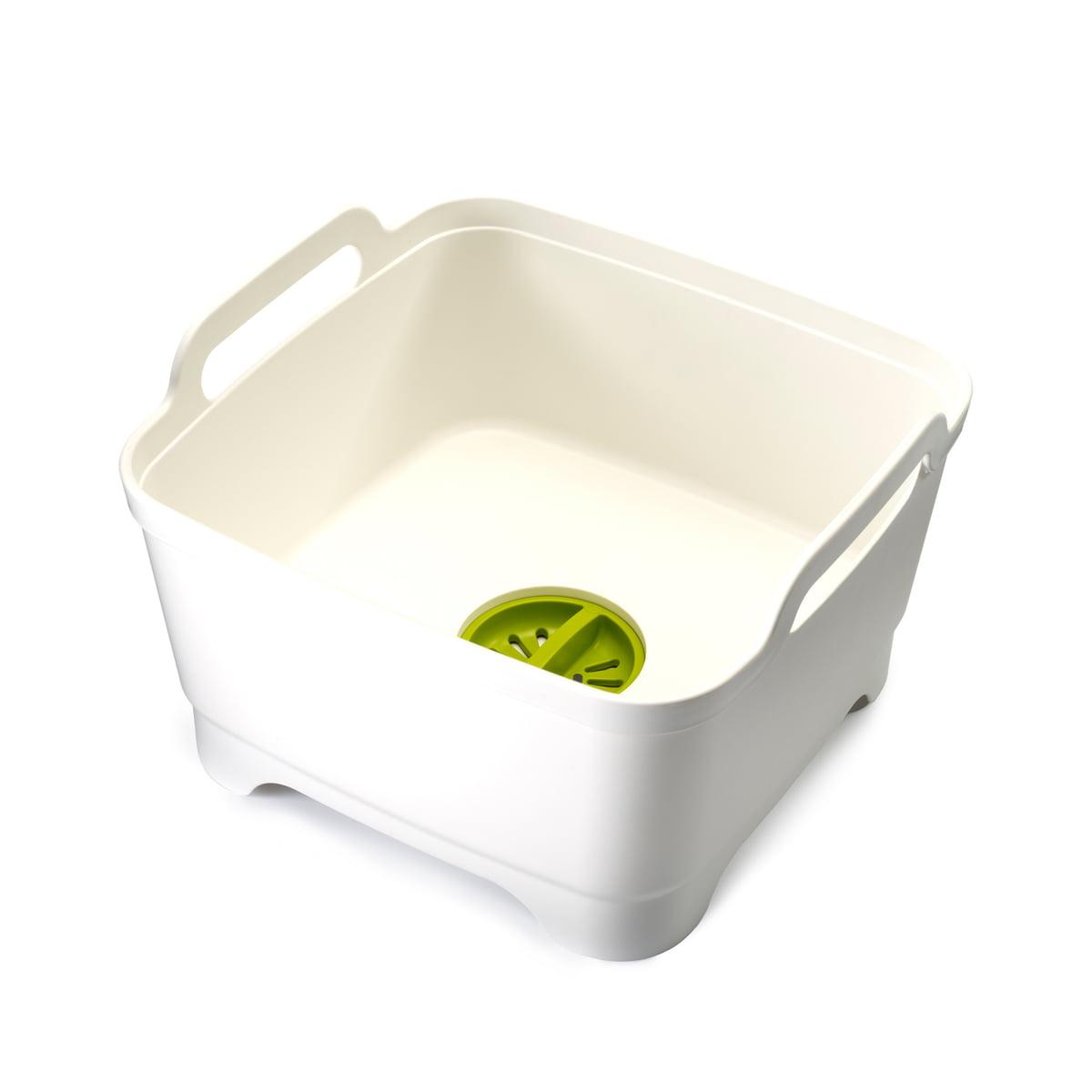 Joseph Joseph - Wash&Drain, Geschirrspülbecken mit Ablaufstecker, weiß / grün | Küche und Esszimmer > Küchen-Zubehör > Halter und Haken | Weiß | Joseph Joseph