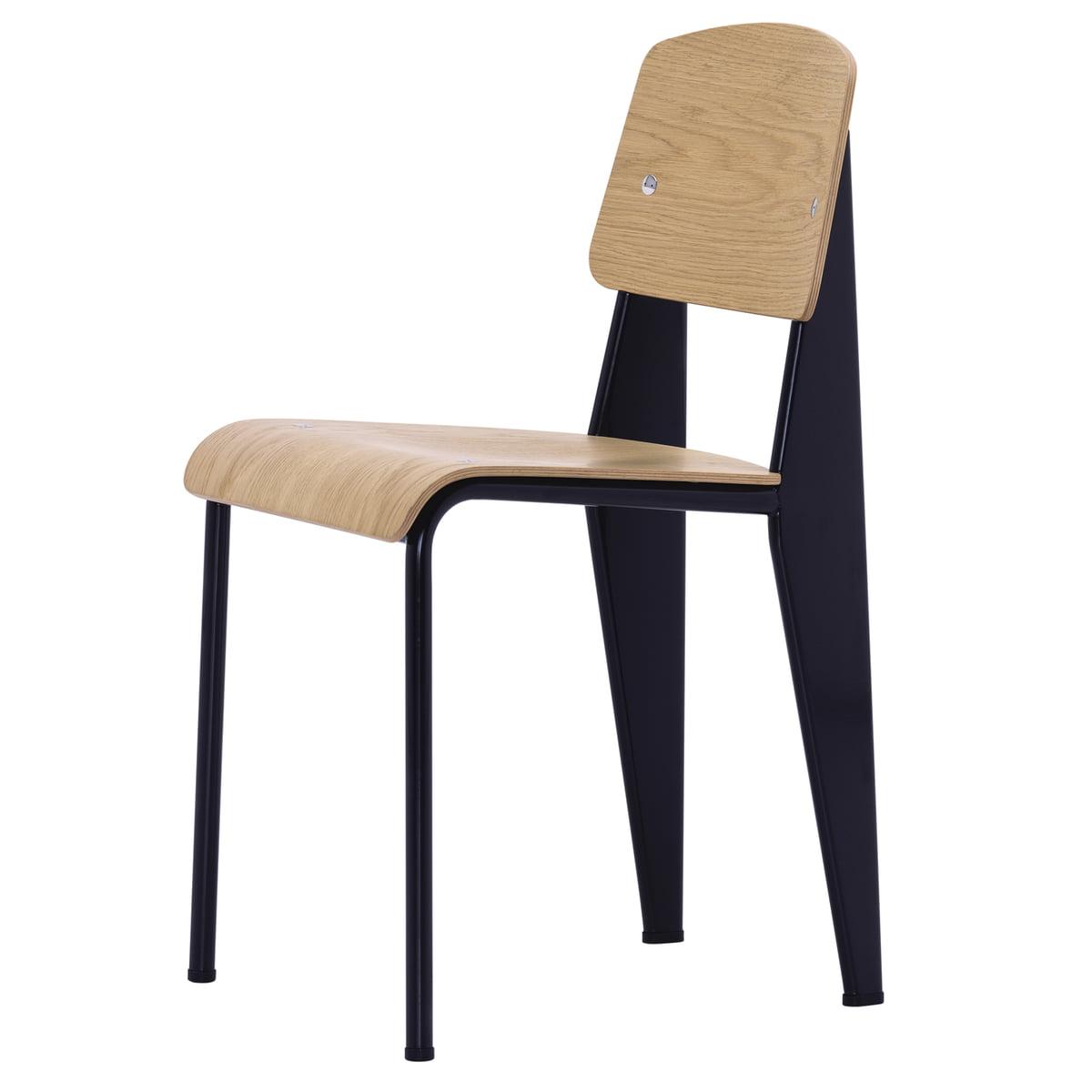 Standard stuhl eiche hell schwarz