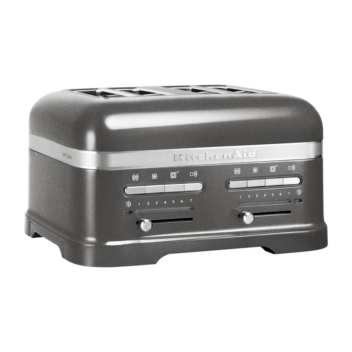 Kitchen Aid KitchenAid - Artisan Toaster 5KMT4205E, 4 Scheiben, medallion silber   Küche und Esszimmer > Küchengeräte > Toaster   Silber   Aluminiumdruckguss   Kitchen Aid
