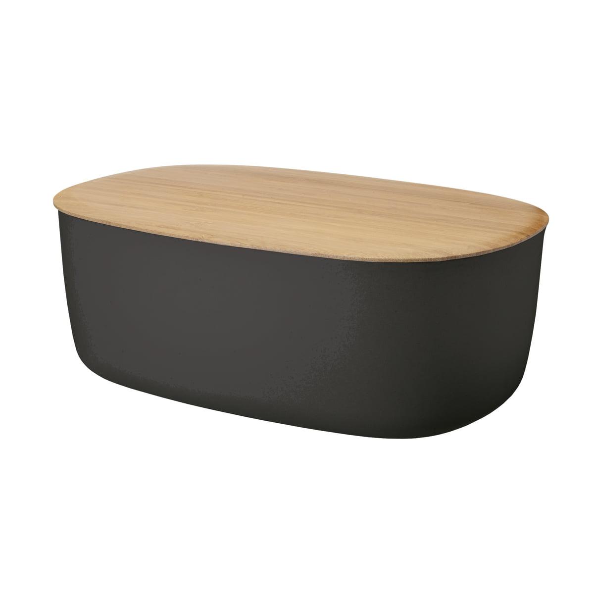 Rig-Tig by Stelton - Box-It Brotkasten, schwarz | Küche und Esszimmer > Aufbewahrung | Schwarz | Kasten: melamin -  deckel: bambusholz | Stelton