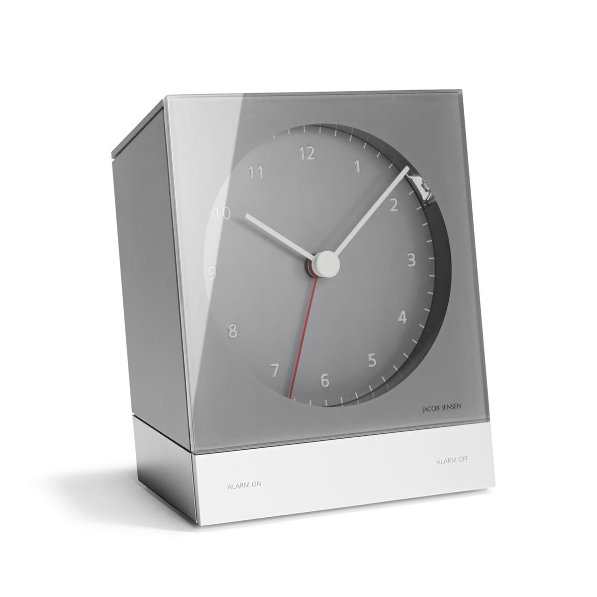 Jacob Jensen - Quartzwecker, grau | Dekoration > Uhren > Wecker | Grau | Abs-kunststoff -  aluminium | Jacob Jensen