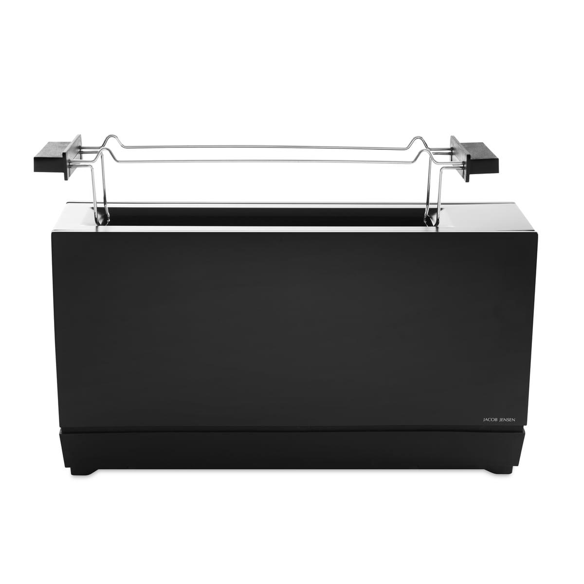 Jacob Jensen - One Slot Toaster II, schwarz | Küche und Esszimmer > Küchengeräte | Schwarz | Edelstahl | Jacob Jensen