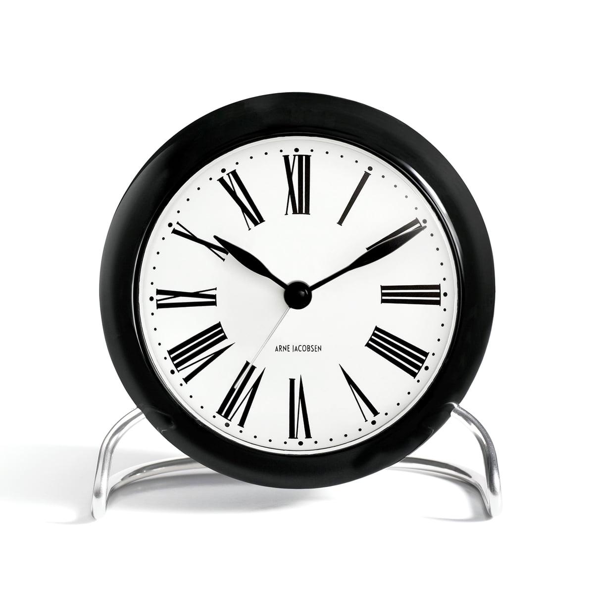 Rosendahl - AJ Roman Tischuhr mit Alarm, Ø 11 cm   Dekoration > Uhren > Standuhren   Weiß   Aluminium  glas (mineralglas)   Rosendahl
