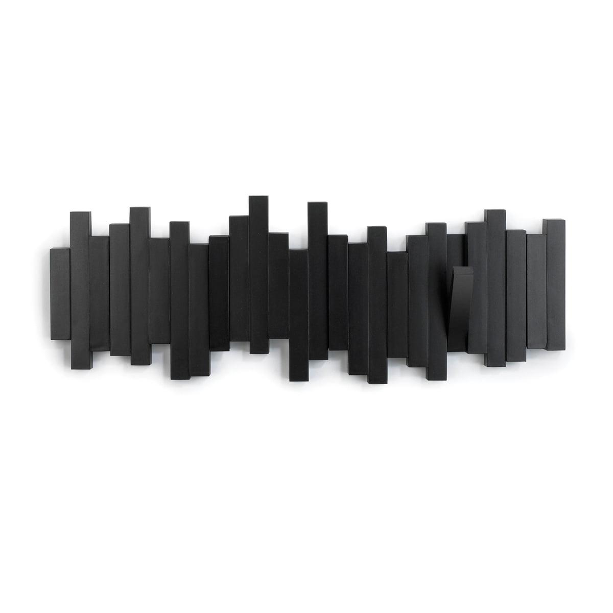 Umbra - Sticks Wandgarderobe, schwarz | Flur & Diele > Garderoben > Garderobenhaken | Schwarz | Kunststoff | Umbra